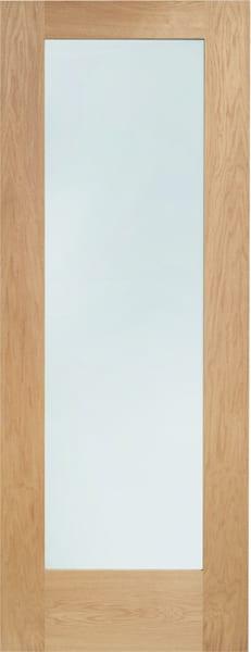 Pattern 10 Oak door clear glass