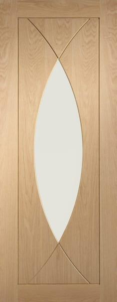 Pesaro Oak with clear glass door