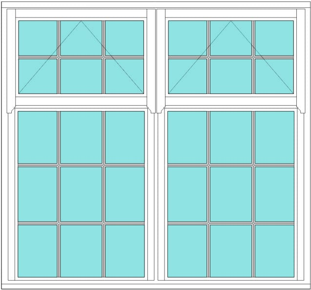 Regency All Bar 6 x 5 window