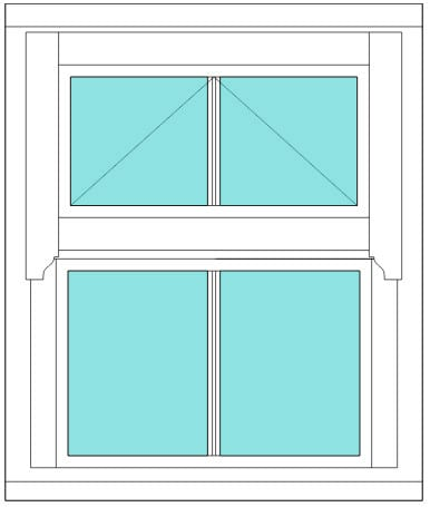 Regency All bar 2 x 2 window