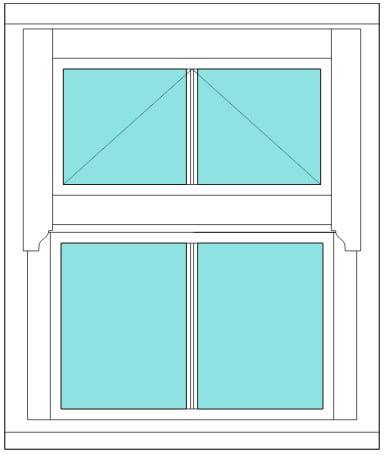 Regency All bar 2 x 2 window