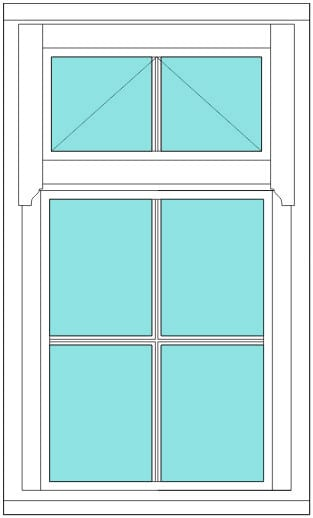 Regency All bar 2 x 3 window