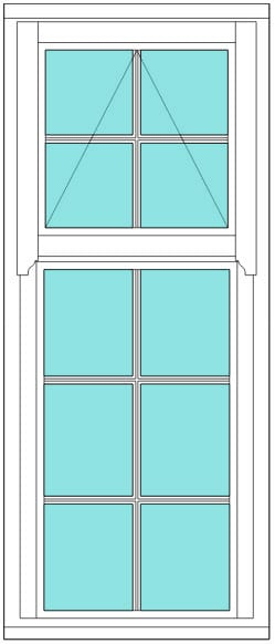 Regency All bar 2 x 5 window