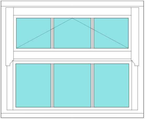 Regency All bar 3x 2 window
