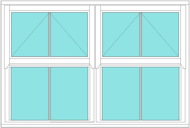 Regency Vertical Bar double window