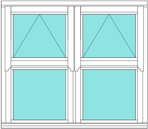Regency open over fixed double window