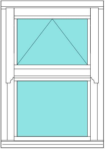 Regency open over fixed window