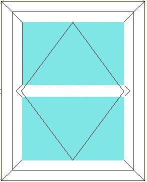 Reversible with Transom window