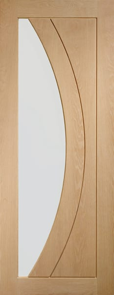 Salerno Oak with clear glass door