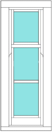 Sliding Sash All bar 1 x 3 window