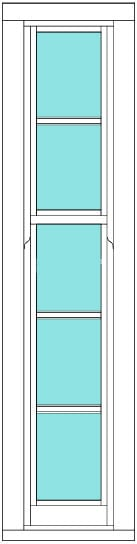 Sliding Sash All bar 1 x 5 window