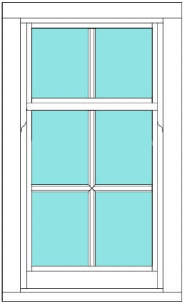 Sliding Sash All bar 2 x 3 window