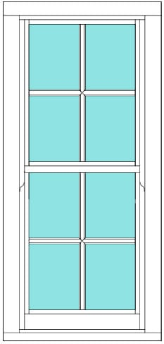 Sliding Sash All bar 2 x 4 window
