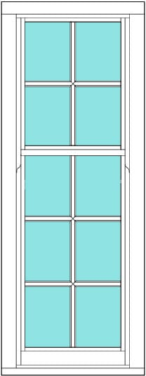 Sliding Sash All bar 2 x 5 window