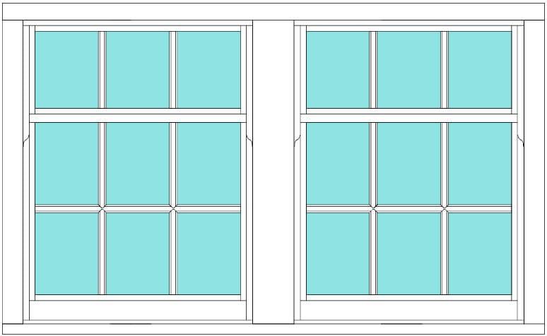 Sliding Sash All bar 6 x 3 window