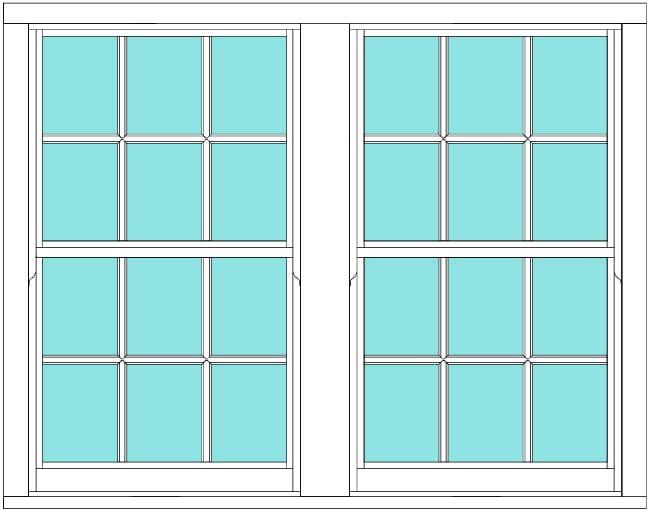 Sliding Sash All bar 6 x 4 window