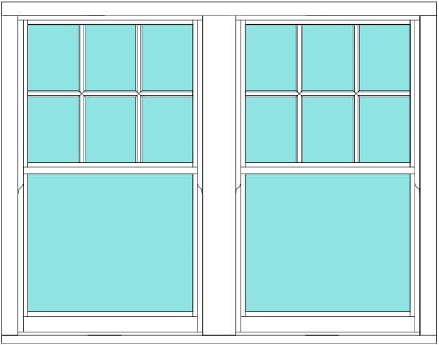 Sliding Sash Victorian bar double window