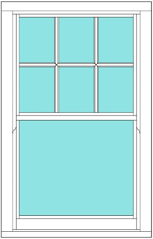 Sliding Sash Victorian bar single window