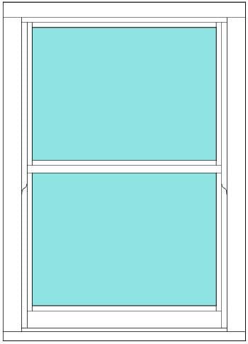Sliding Sash non bar single window