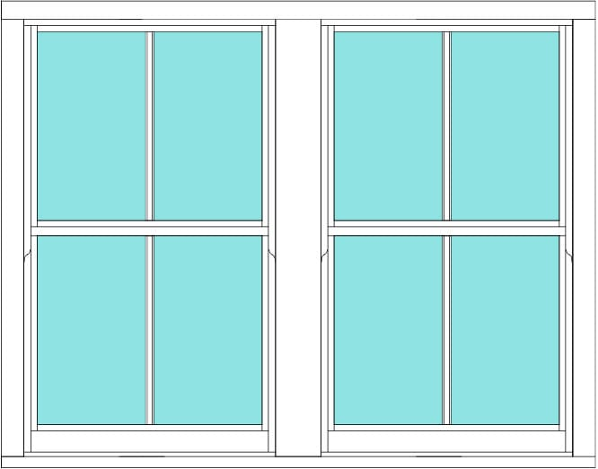 Sliding sash Vertical Bar double window