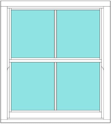 Sliding sash Vertical Bar single window