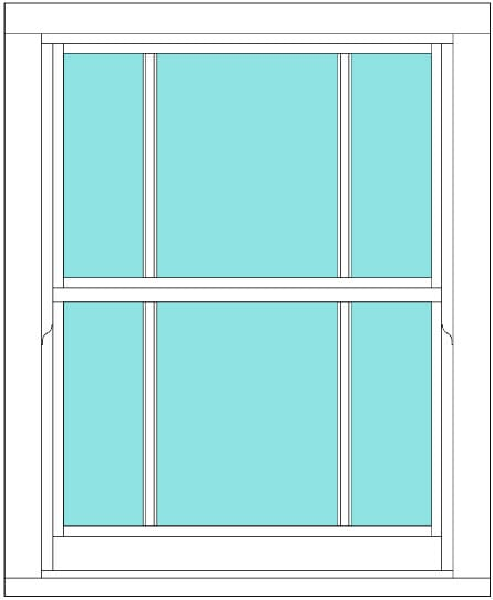 Sliding sash marginal bar single sash window