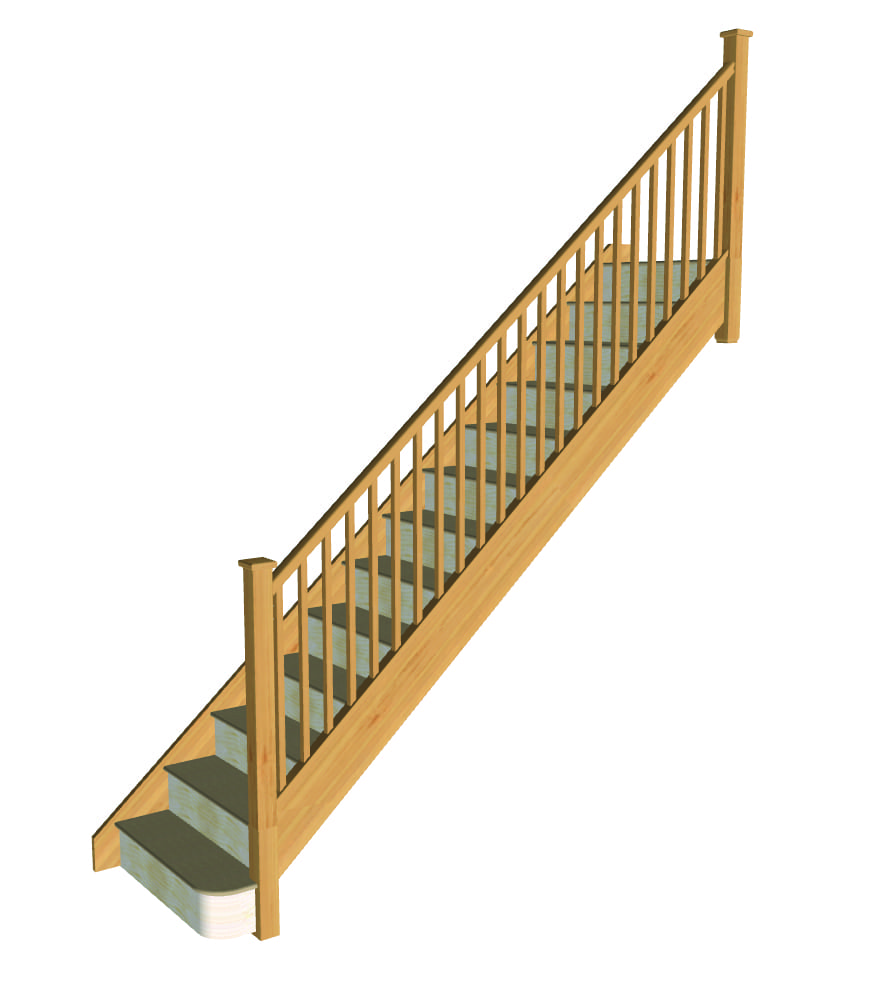 Stair layout diagram A