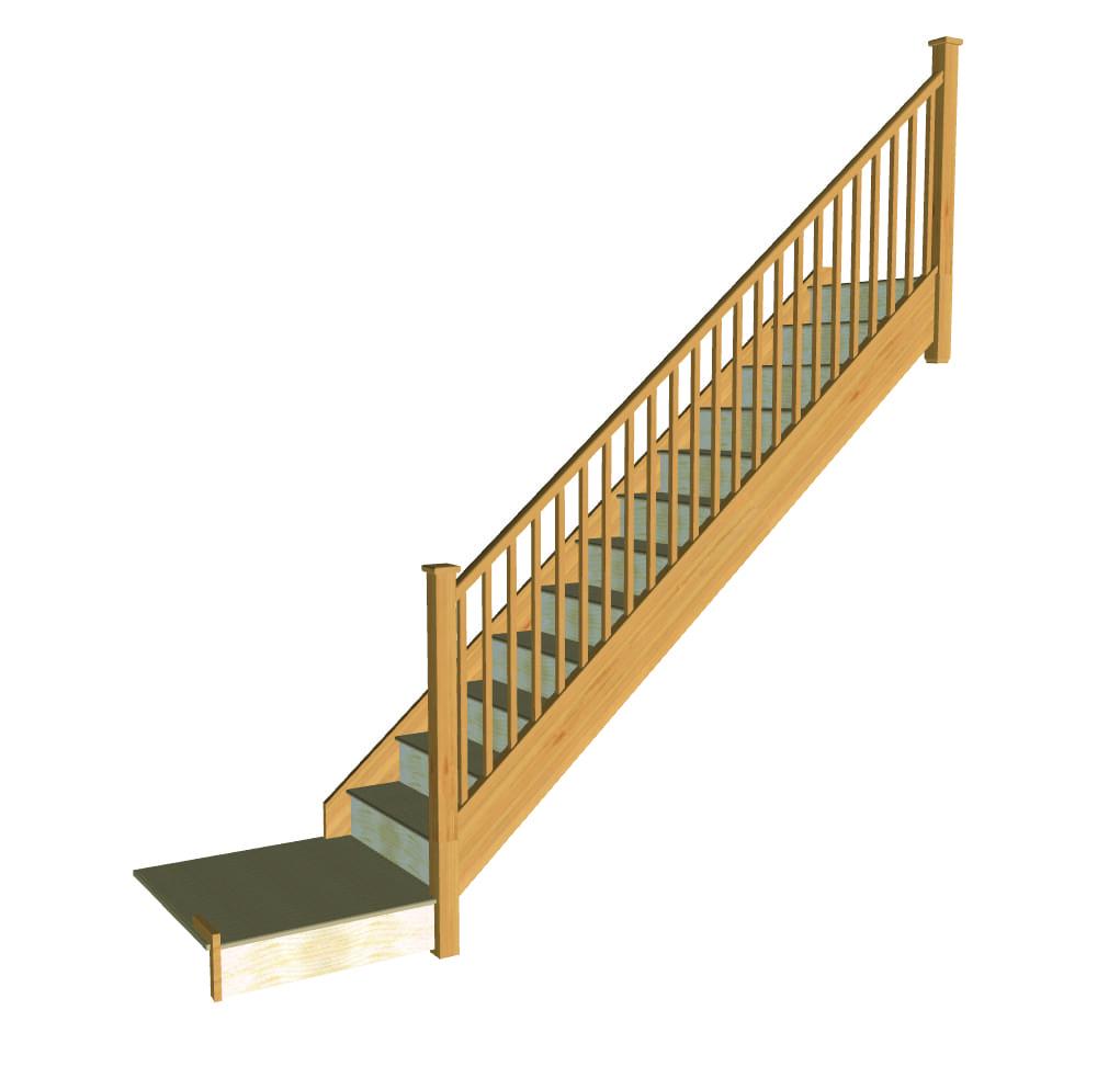 Stair layout diagram B