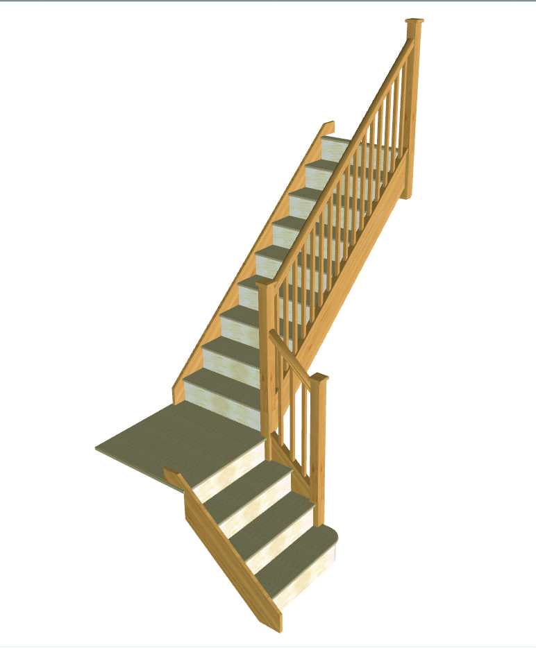 Stair layout diagram C