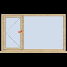 Standard Timber Landscape Window Open/Fixed 1765mm(w)