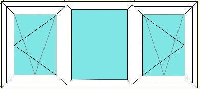 Tilt Turn-Fixed-Tilt turn window