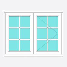 Timber All Bar Casement Window Fixed/Open