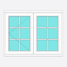 Timber All Bar Casement Window Open/Fixed