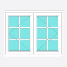 Timber All Bar Casement Window Open/Open