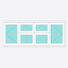 Timber All Bar Casement Window with Vent - Open/Vent Vent/Open