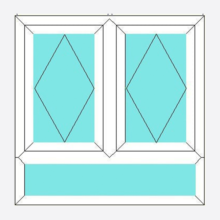 Upvc Fully Reversible Window Double Opening with Sub-light