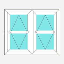 Upvc Fully Reversible Window Double Opening with Transom