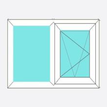 Upvc Tilt and Turn Window Fixed/Open