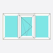 Upvc Tilt and Turn Window Fixed/Open Left/Fixed Style 193