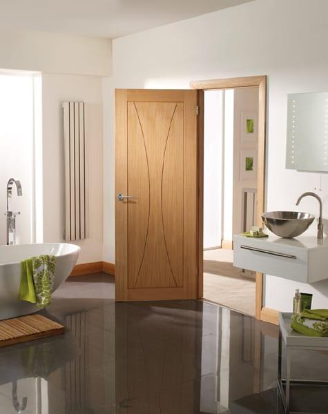 Verona Oak unfinished door set shot