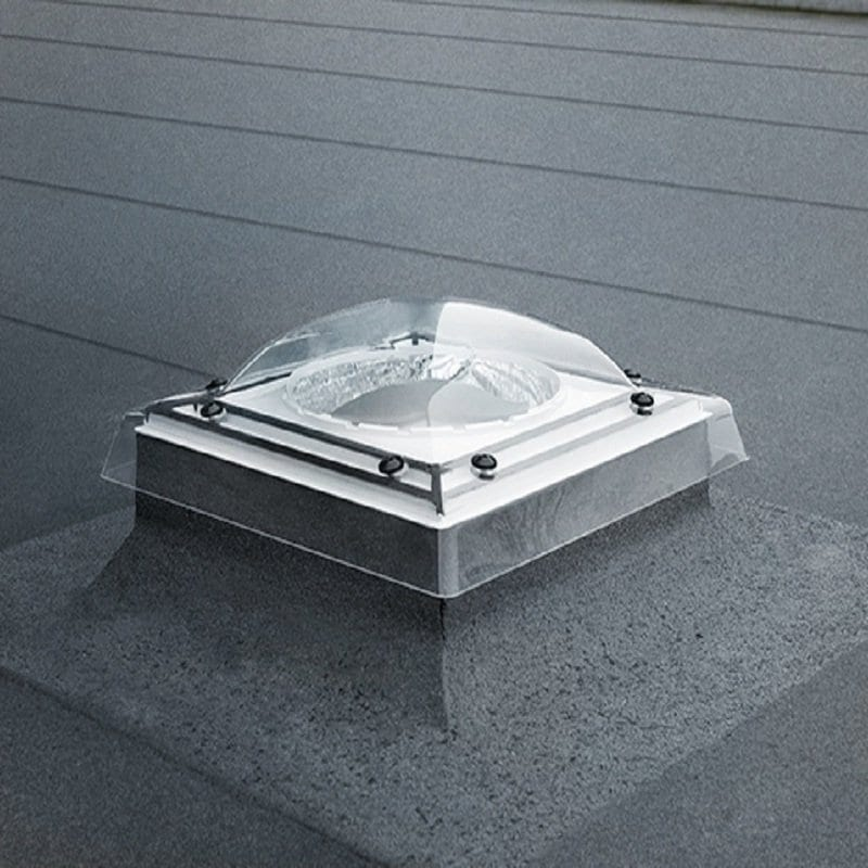 Velux flat roof bubble sun tunnel