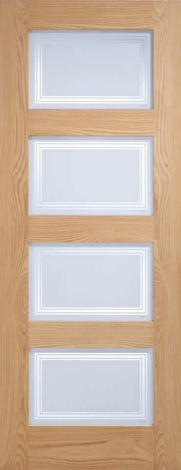 LPD 4L Contemporary Frosted oak door