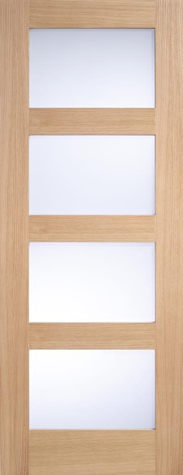 LPD 4L Frosted Glazed Oak door unfinished