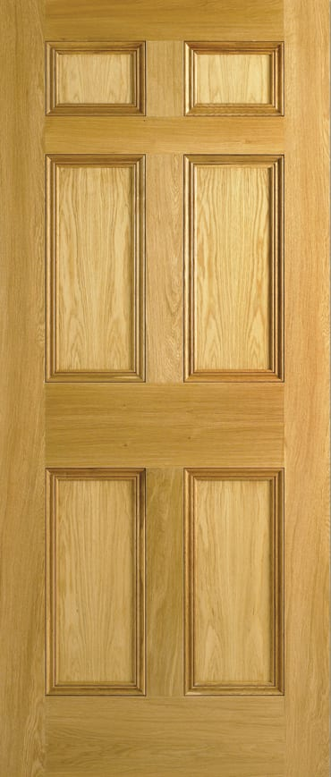 LPD 6 Panel Oak door unfinished