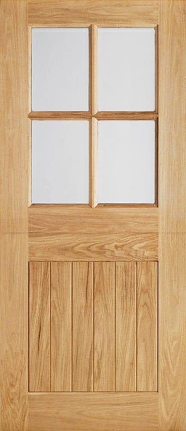 LPD Adoorable Oak cottage stable 4 light door