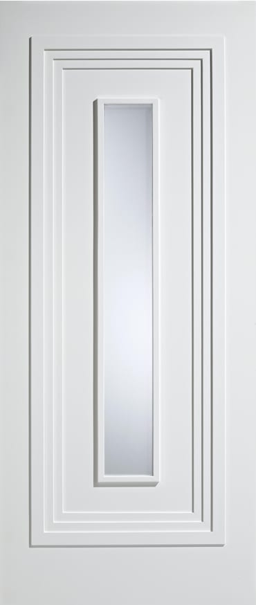 LPD Atlanta glazed white primed door