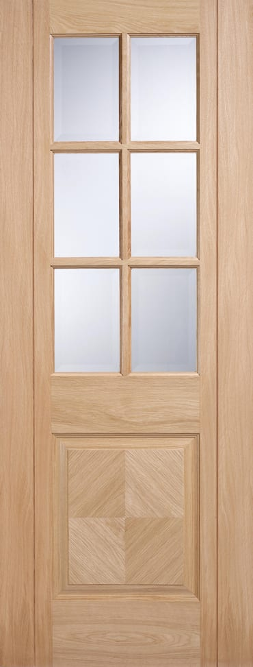 LPD Barcelona Oak glazed door