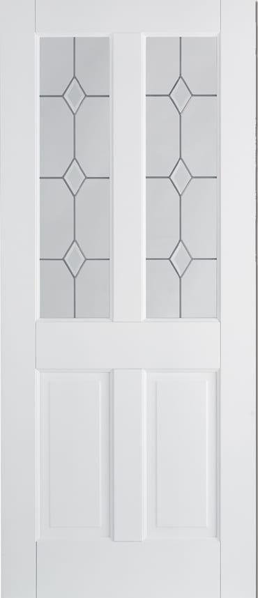 LPD Canterbury 2 Panel 2 Light white primed door