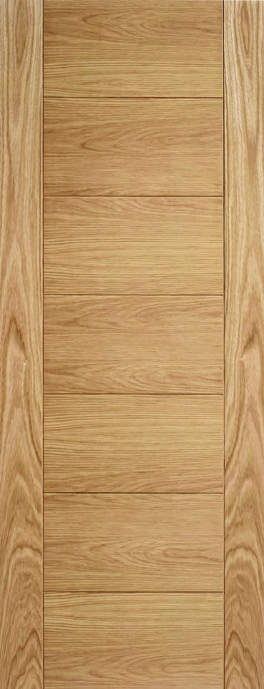 LPD Carini 7 Panel unfinished oak door