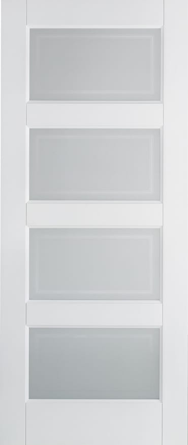LPD Contemporary 4 Light white primed door